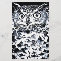 Big Ear Owl Art