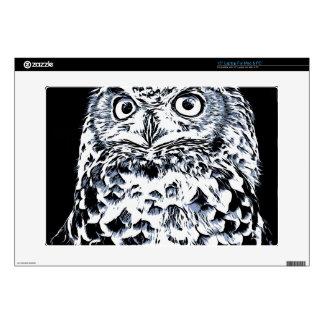 """Big Ear Owl Art 15"""" Laptop Skin"""