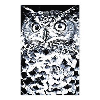 Big Ear Owl Art Stationery