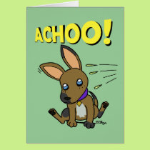 Big eared doggy card