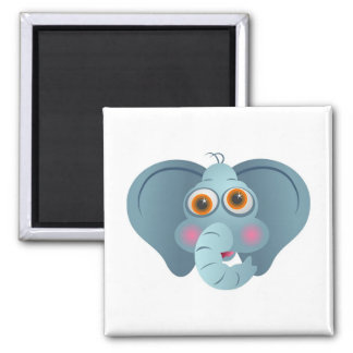 Big Ears 2 Inch Square Magnet