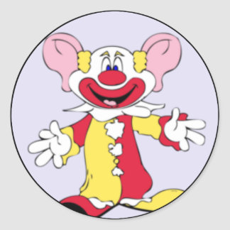 Big Ears Clown Classic Round Sticker