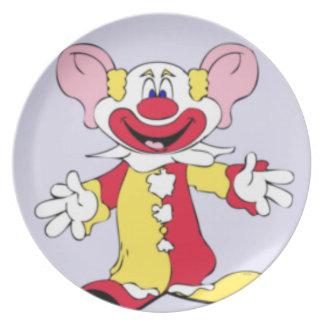 Big Ears Clown Melamine Plate