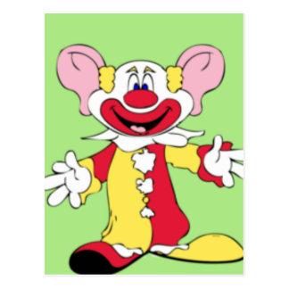 Big Ears Clown Postcard