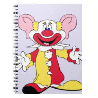 Big Ears Clown Spiral Notebook