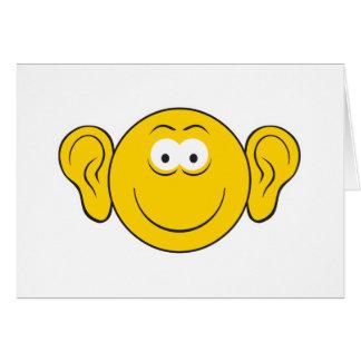 Big Ears Smiley Face Card