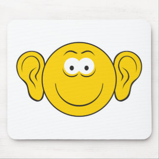 Big Ears Smiley Face Mouse Pad
