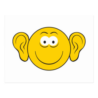 Big Ears Smiley Face Postcard