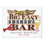 """Big-Easy-Bar-3-[Converted] 4.25"""" X 5.5"""" Invitation Card"""