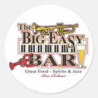 Big-Easy-Bar-3-[Converted] Round Sticker