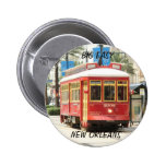 BIG EASY, NEW ORLEANS STREETCAR PINBACK BUTTONS
