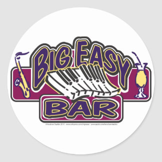 Big-Easy-Simple-[Converted] Round Sticker