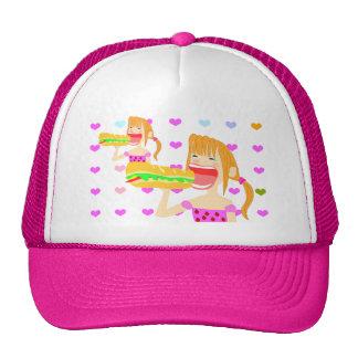 big eater girl circle trucker hat