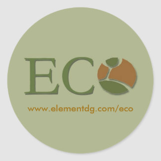 big eco sitcker - Customized Classic Round Sticker