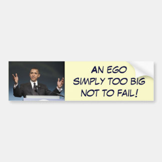 Big ego bumper sticker