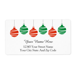 holiday address labels shipping return address zazzle