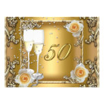 Big Elegant Gold 50th Wedding Anniversary Party Personalized Invite