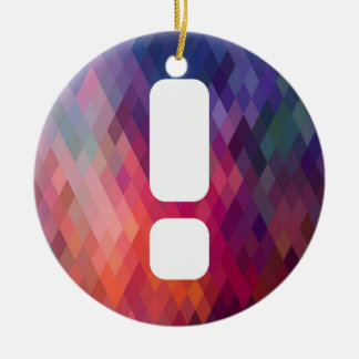 Big Exclamations Minimal Double-Sided Ceramic Round Christmas Ornament
