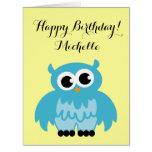 Big extra large Birthday card | cute owl cartoon