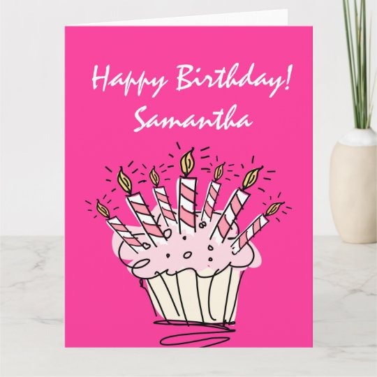 Big Extra Large Birthday Card For Women With Name Zazzle