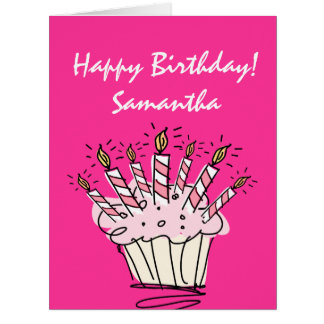 Big extra large Birthday card for women with name