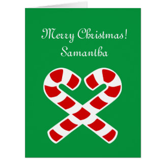 Big extra large Christmas card with custom name