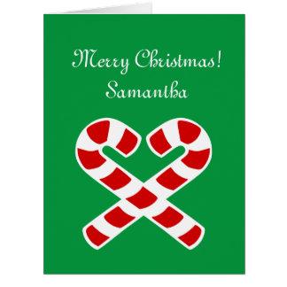 Big extra large Christmas card with custom name