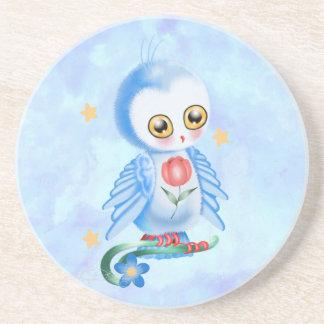 Big Eye Blue Owl Coasters