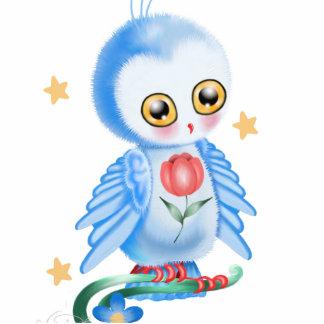 Big Eye Blue Owl Cutout