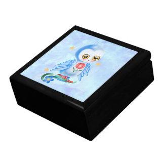 Big Eye Blue Owl Jewelry Box