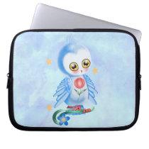 Big Eye Blue Owl Laptop Sleeve