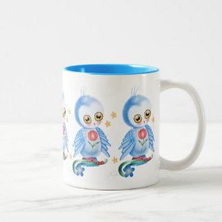 Big Eye Blue Owl Coffee Mugs