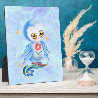 Big Eye Blue Owl Plaque