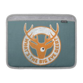 Big Eye Deer Worn Orange MacBook Sleeves