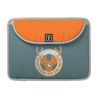 Big Eye Deer Worn Orange MacBook Pro Sleeves