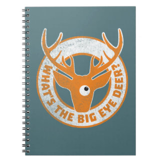 Big Eye Deer Worn Orange Note Book