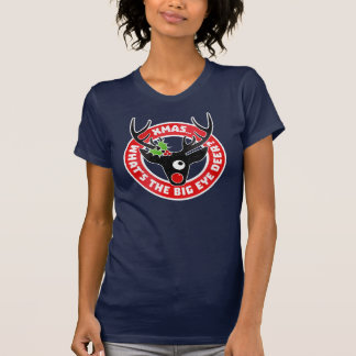 Big Eye Deer Xmas Worn T Shirts
