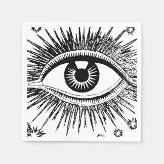 Big Eye Eyeball ICU Halloween Hospital Fortune Odd Paper Napkin