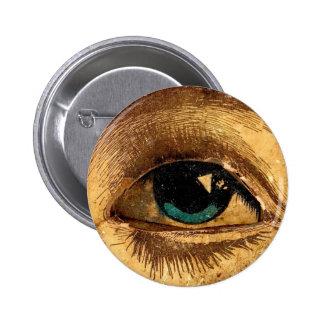 Big Eye Eyeball Sees You Watching Weird Pinback Button