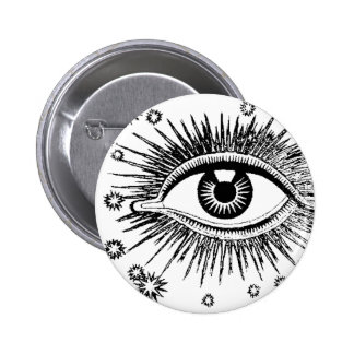 Big Eye Giant Eyeball ICU Watching You Sees All Button