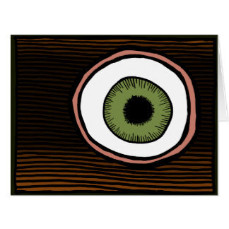 Big Eye greeting card by ParanormalPrints