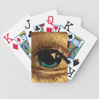 Big Eye Watches the Poker Game Weird Odd Creepy Bicycle Playing Cards