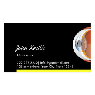 Big Eyeball Optometrist Dark Business Card