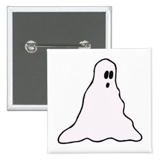Big eyed blobby ghost graphic pin