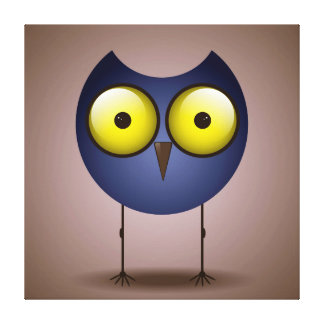 Big Eyed Blue Owl Canvas Print