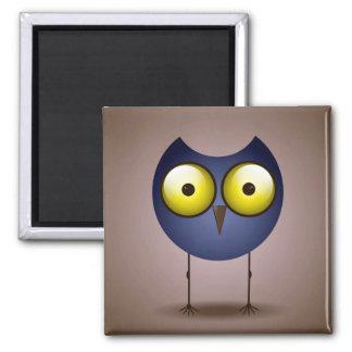 Big Eyed Blue Owl Magnet