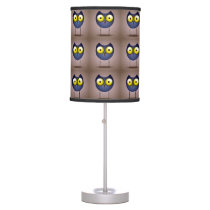 Big Eyed Blue Owl Table Lamp