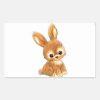 Big Eyed Bunny Rectangle Sticker