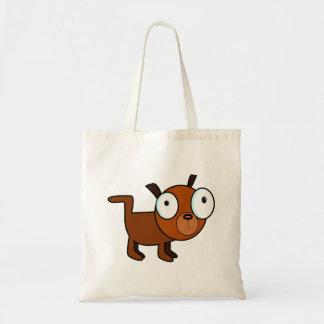 Big-Eyed Cartoon Dog Canvas Bags