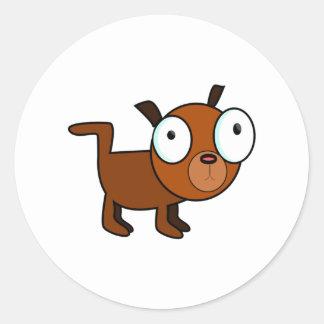 Big-Eyed Cartoon Dog Classic Round Sticker